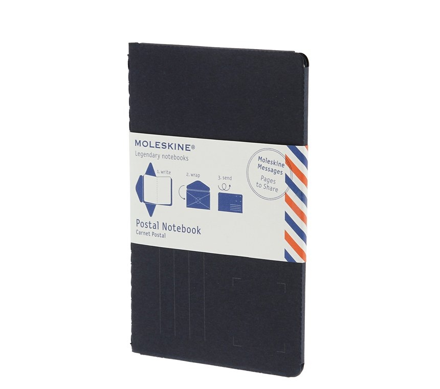 Почтовый набор Moleskine Postal Notebook, Large (11,5х17,5см), синий