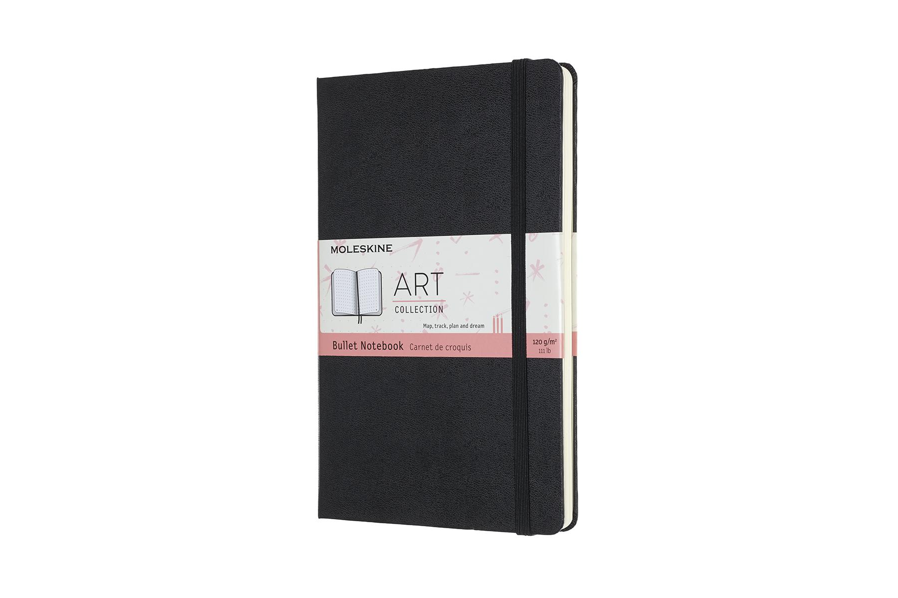 Записная книжка Moleskine Bullet (для рисунков), Large (13х21 см), чёрный
