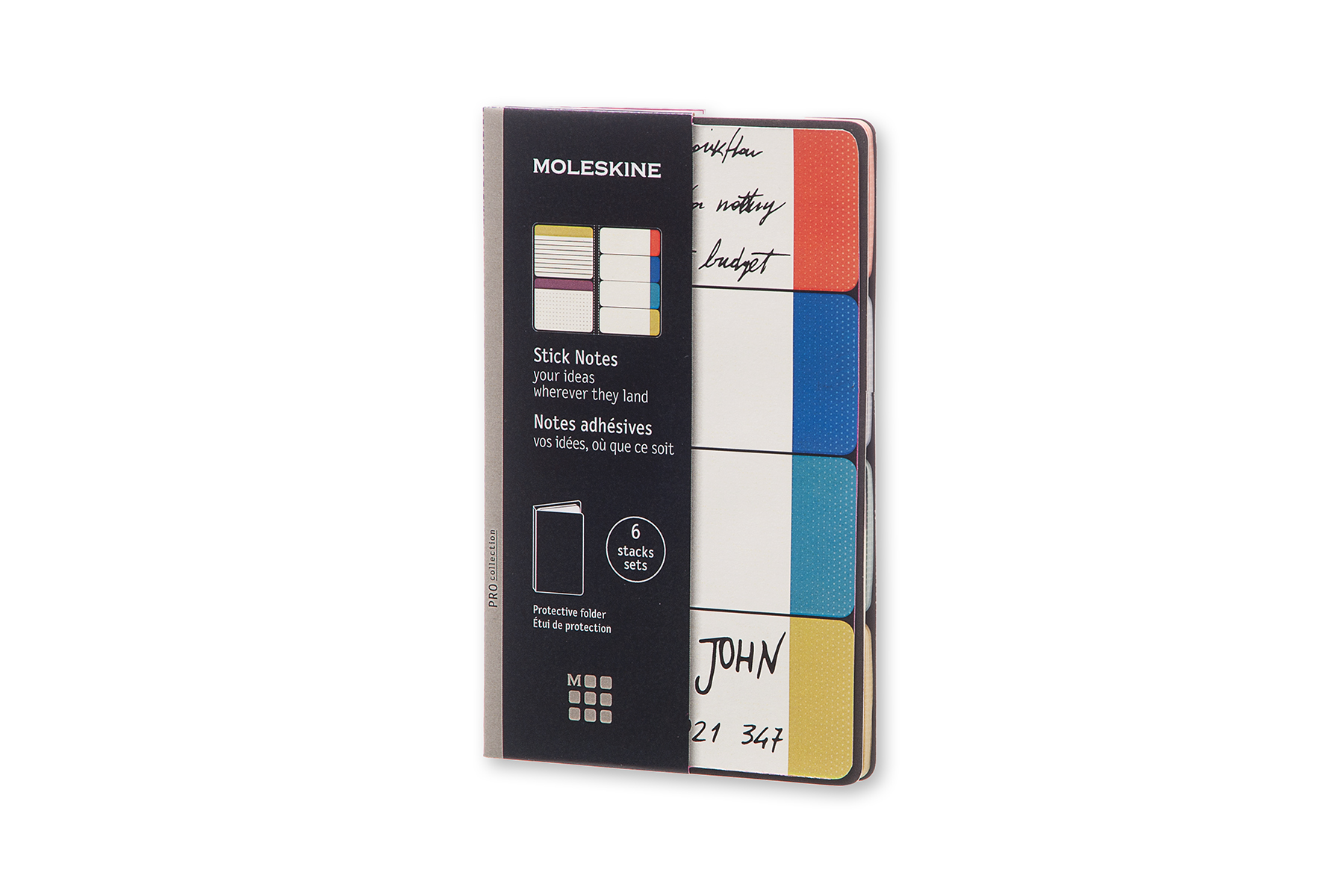 Стикеры Moleskine Professional Collection (6 цветов)